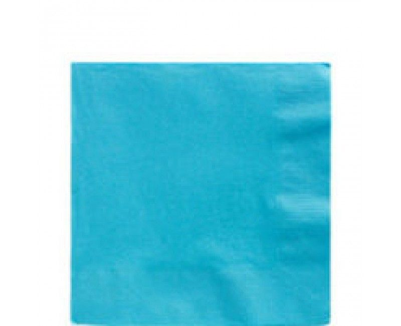 Servetten carribean blauw 33 x 33cm, 20 stuks