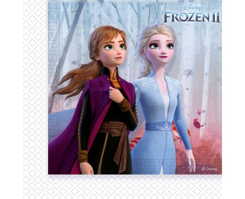 Frozen 2 servetten 33 x 33cm, 20 stuks