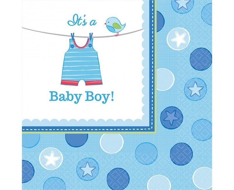 Servetten geboorte jongen It's a Baby Boy!