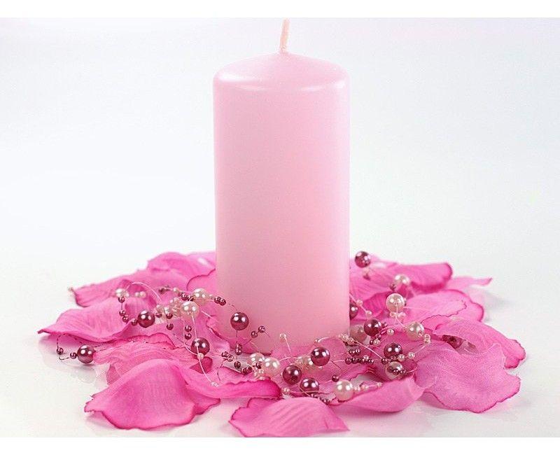 Stompkaarsen roze 6 st.