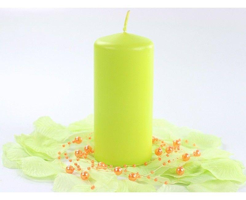 Stompkaarsen licht groen 6 st.