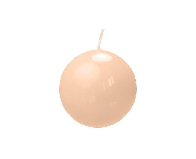 Bolkaarsen 6 cm licht caramel