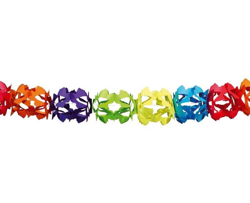 Papieren slinger Hoku multicolour, 6 meter