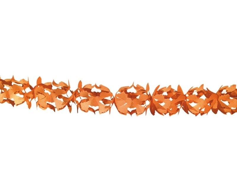 Papieren slinger 6 meter Hoku oranje