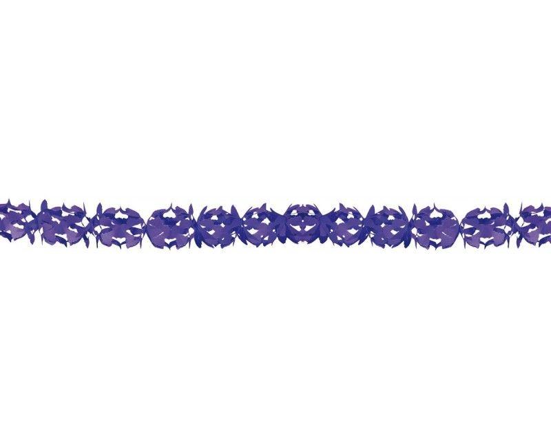 Papieren slinger 6 meter Hoku paars