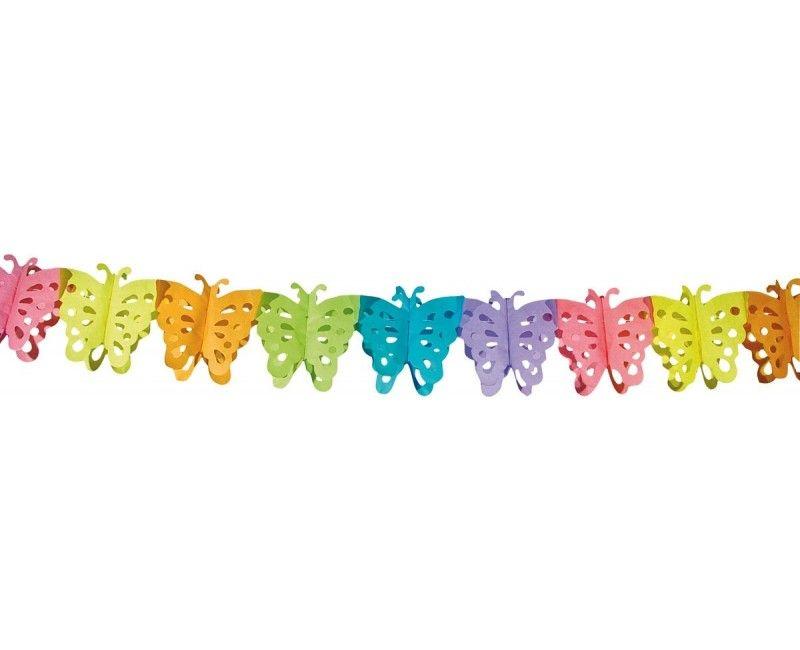 Papieren slinger vlinder, 6 meter