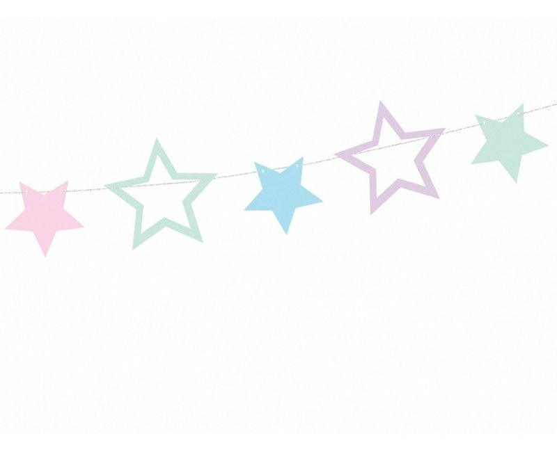 Slinger Unicorn sterren mix, 1.4 meter