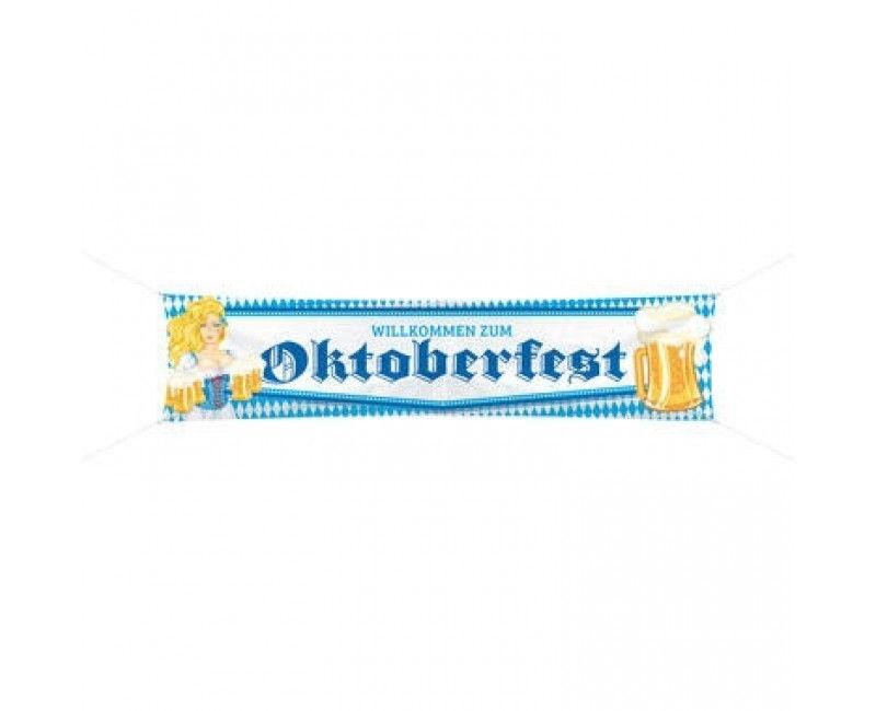 Spandoek Wilkommen zum Oktoberfest, 180 x 40cm