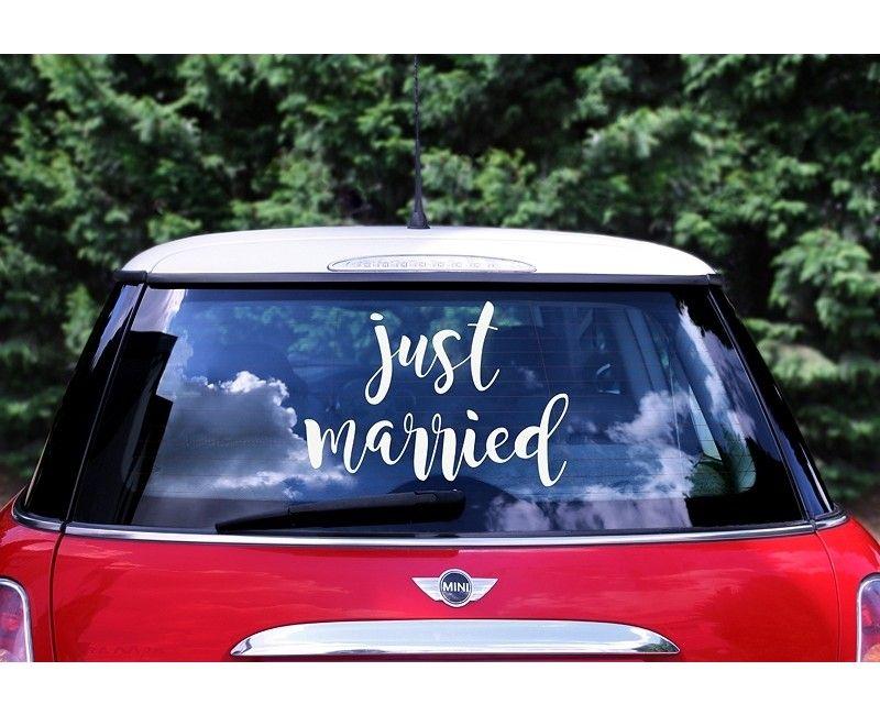"Trouwauto sticker ""Just Married"""