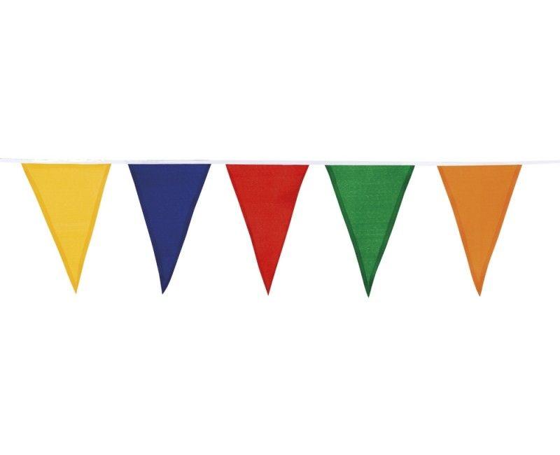 Stoffen vlaggenlijn slinger multicolour 10 meter