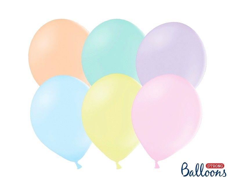 Party ballon pastel assortie, 10 stuks