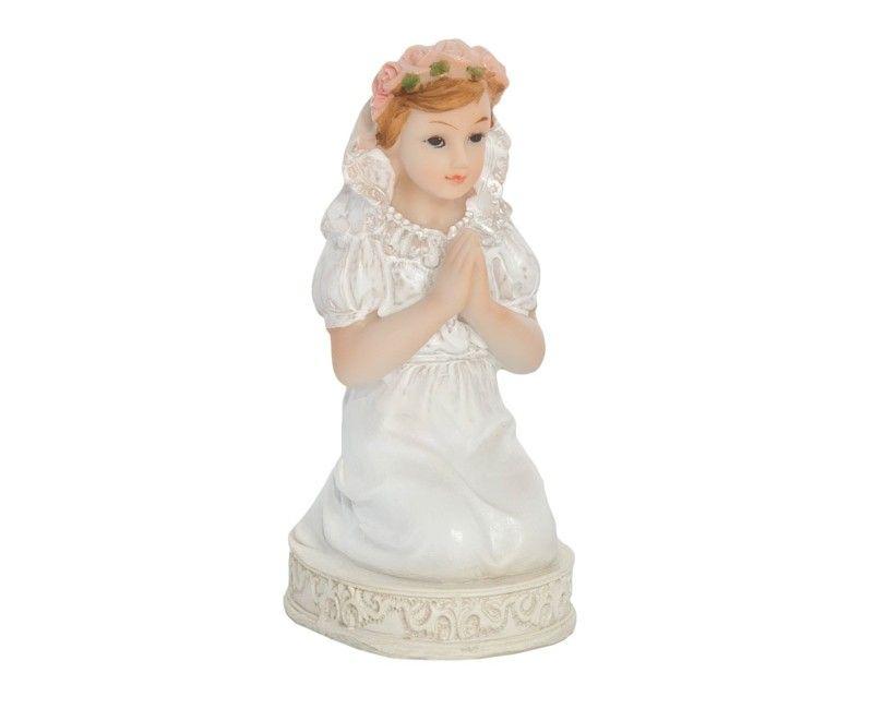Communie beeldje meisje, 11cm