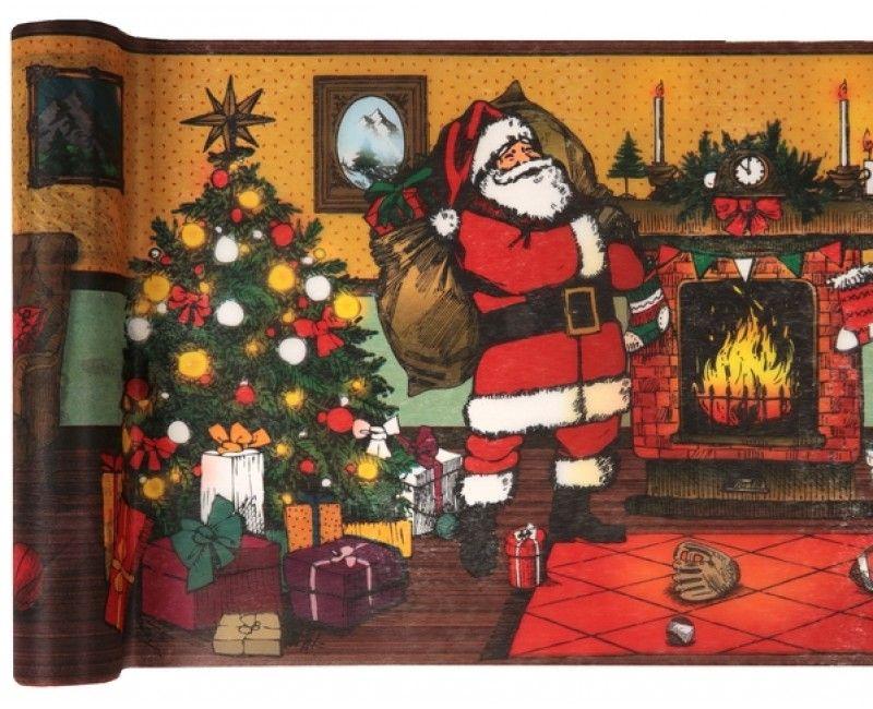 Tafelloper kerstmis vintage, lengte 5 meter
