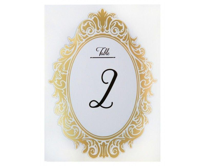 Tafelnummering kaarten Versailles 1 t/m 10