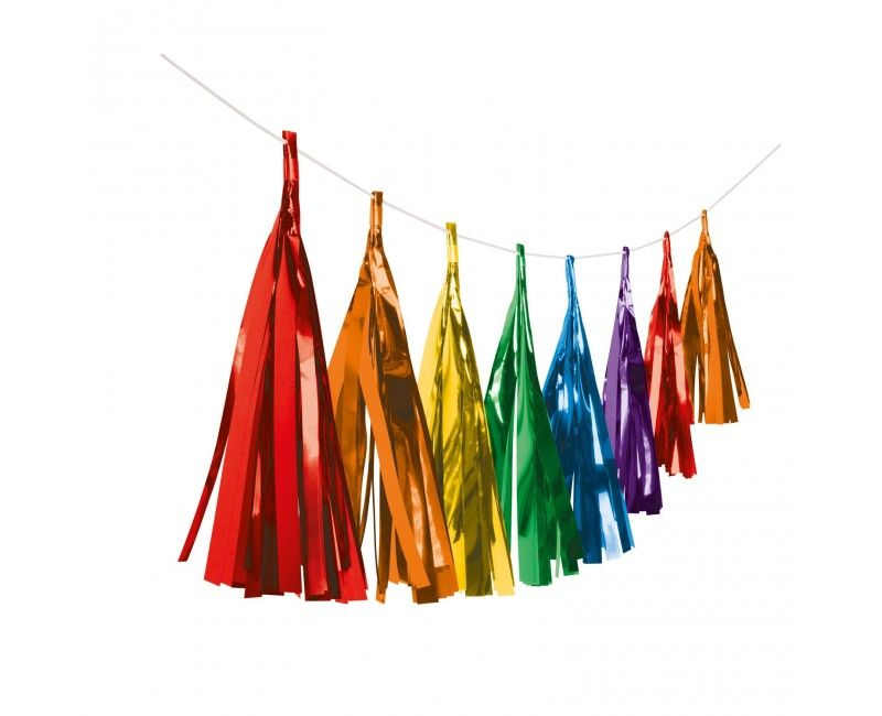 Luxe tassel slinger multicolour metallic, 3 meter