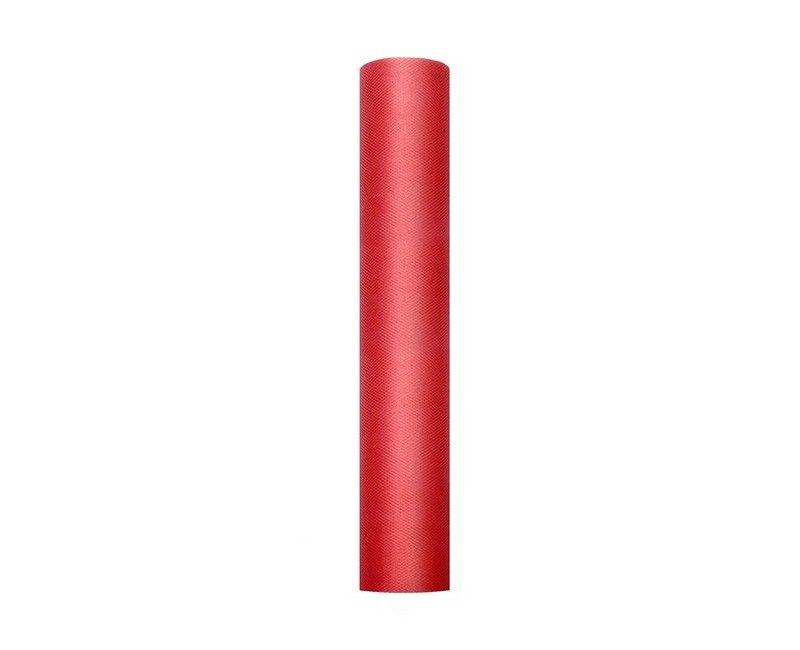Tule rood 30cm breed, rol 9 mtr