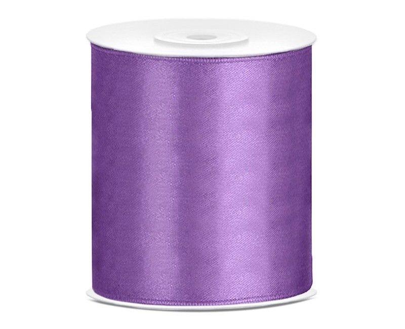 Satijn lint lavendel 100mm breed, rol 25 mtr