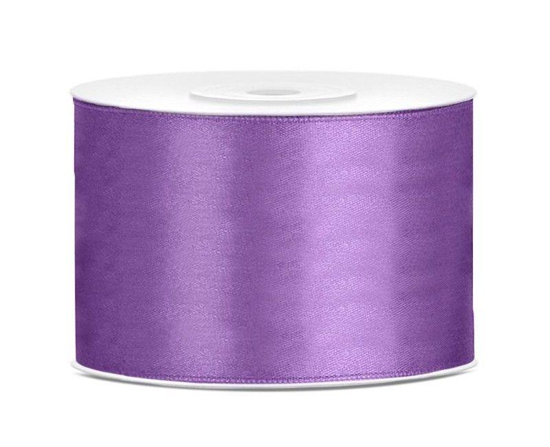 Satijn lint lavendel 50mm breed, rol 25 mtr