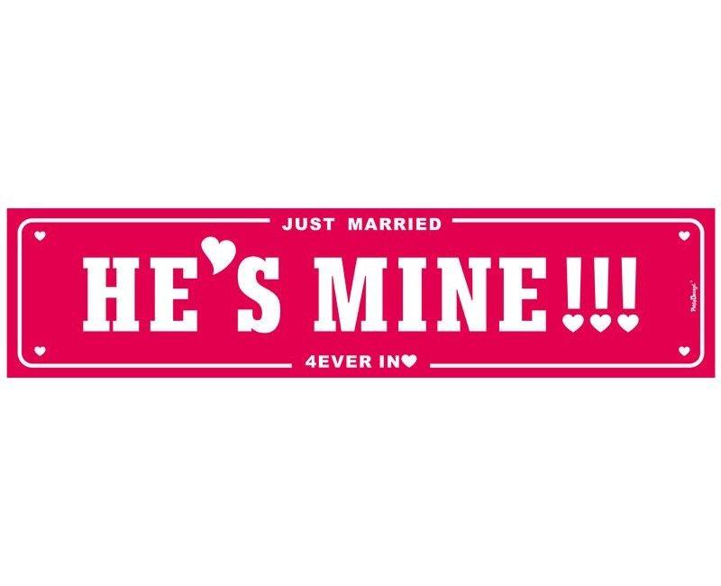 Kentekenplaat He's mine