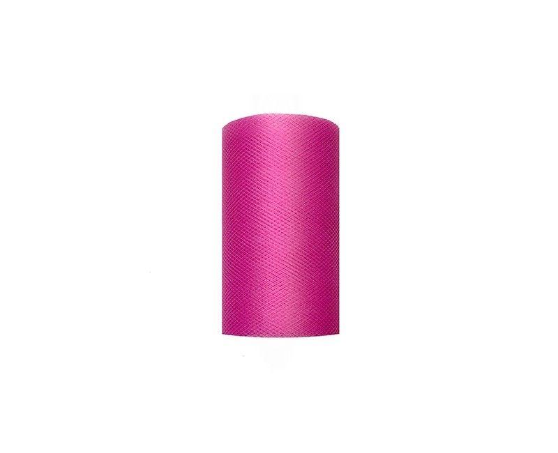 Tule roze 8cm breed, rol 20 mtr