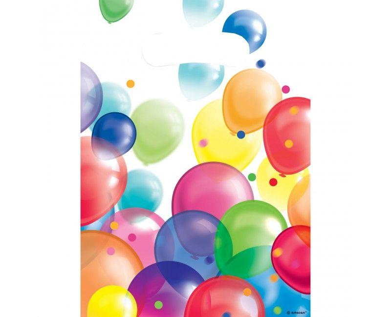 Uitdeelzakjes ballonnen, 8 stuks