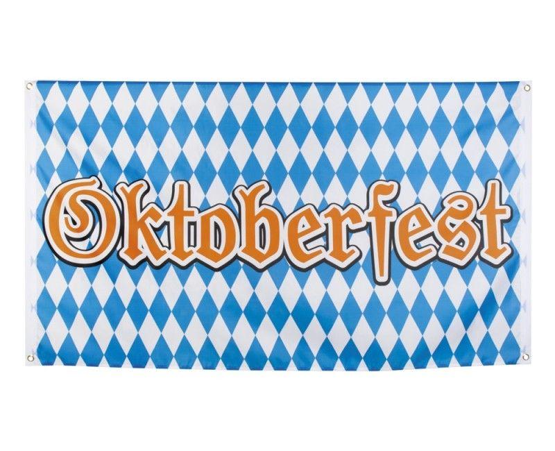Polyester vlag Oktoberfest 90 x 150 cm