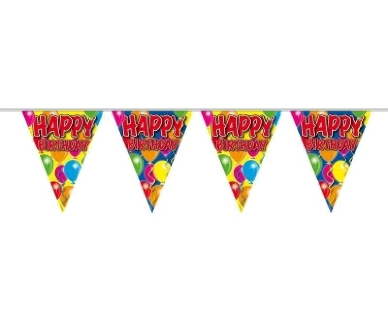 Vlaggenlijn ballonnen Happy Birthday