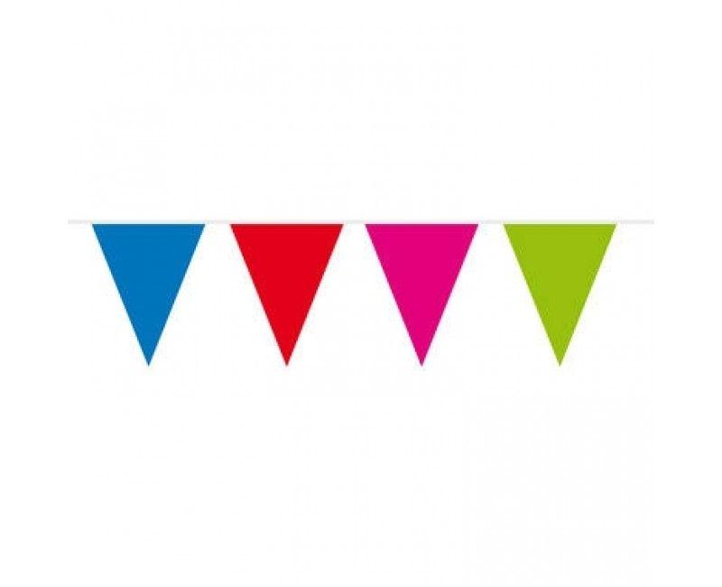 Vlaggenlijn slinger 10 meter multicolour,