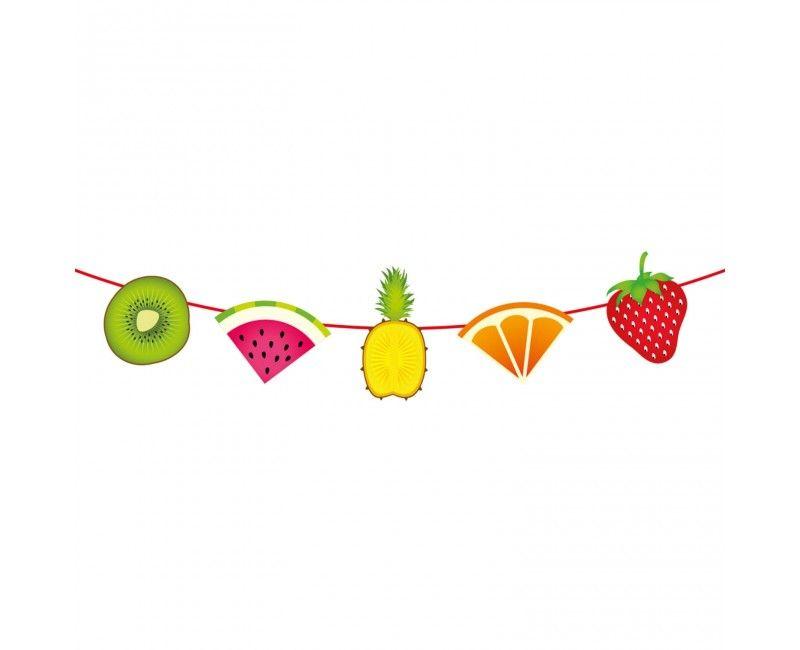 Papieren slinger tropisch fruit, 6 meter