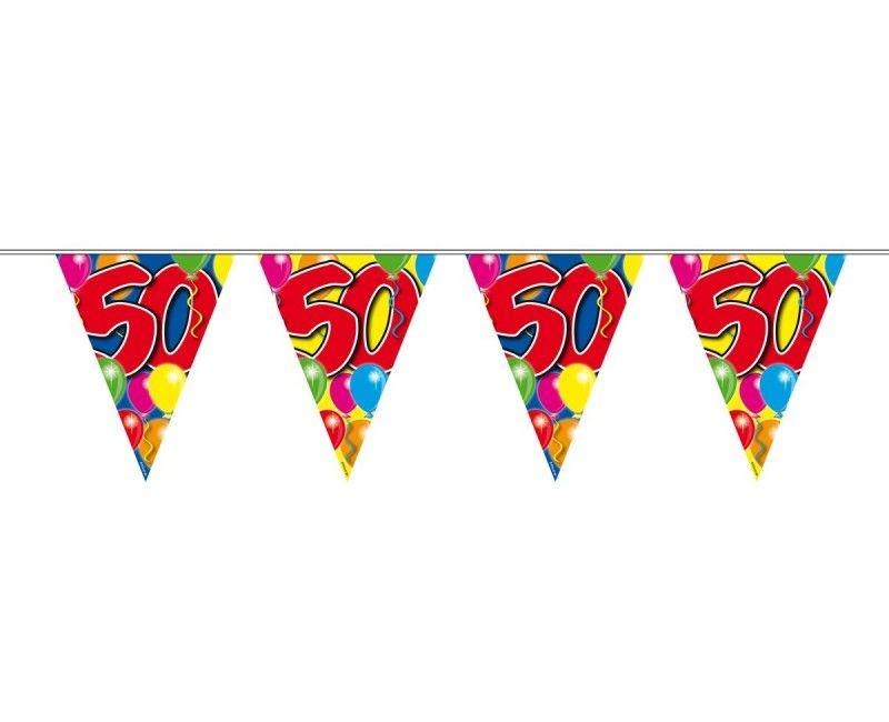 Vlaggenlijn balloons 50 jaar