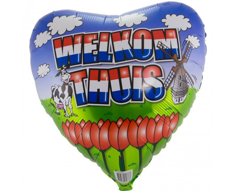 Folieballon Welkom thuis hart