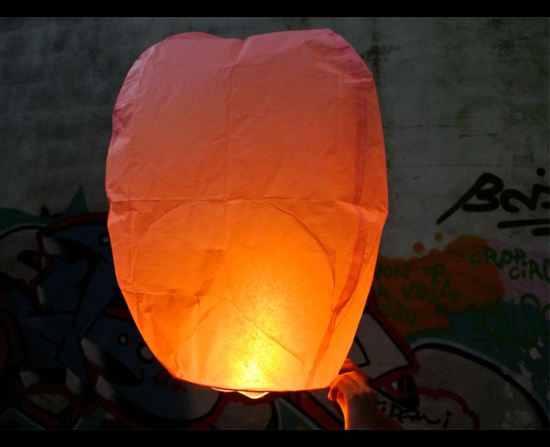 Wensballon oranje, per stuk