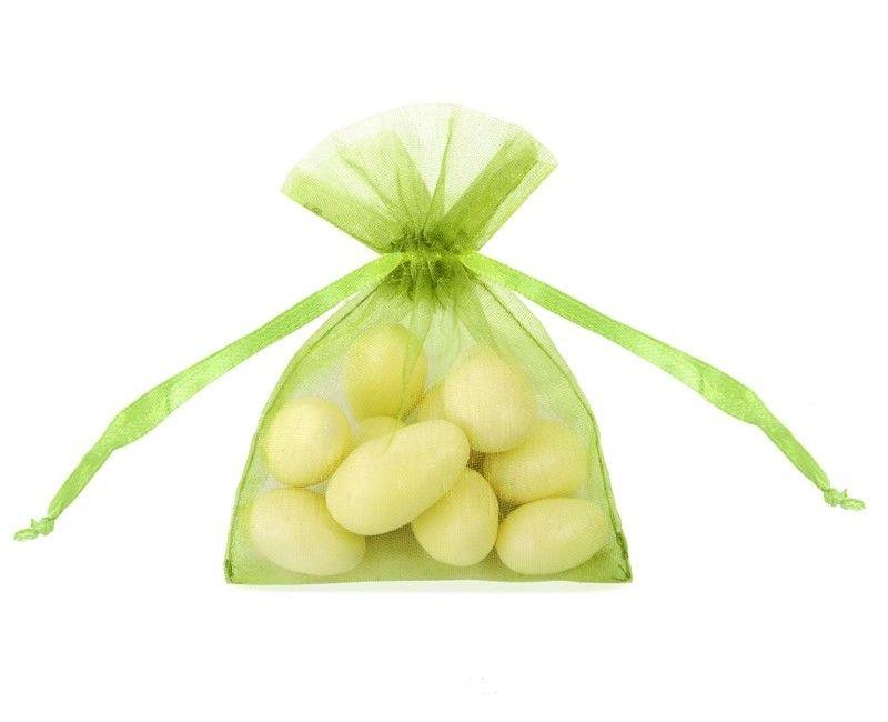 Organza zakje appel groen, 20 stuks