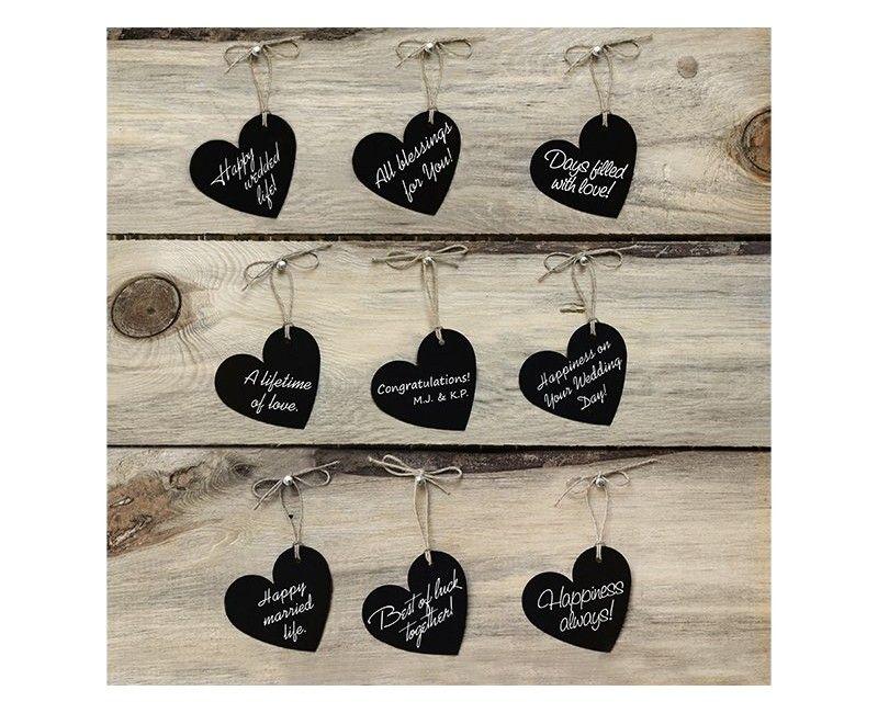 Wensboom kaartjes hart, 10 stuks