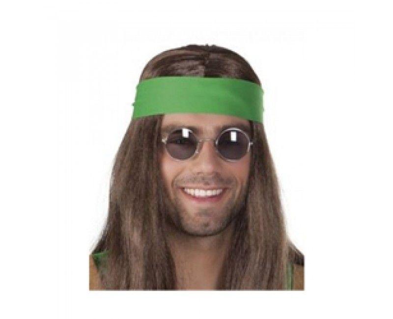 Partybril hippie John grijs, per stuk
