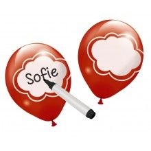 Schrijfballonnen 6 stuks