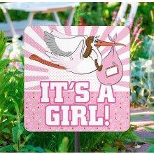 Tuinbord It's a girl