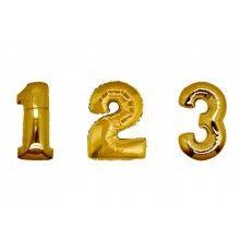 Folieballon cijfers 100 cm goud | Feestfirma.nl