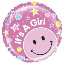 Folieballon It's a Girl mighty bright