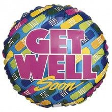 Folieballon 45cm Get Well pleisters