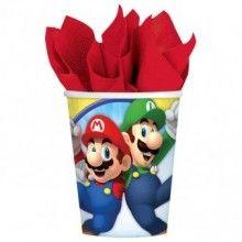 Bekers Super Mario 250ml, 8 stuks