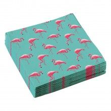 Servetten Flamingo stijl