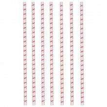 Papieren rietjes Flamingo stijl, 12 stuks
