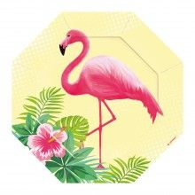 Borden achthoekig Flamingo stijl