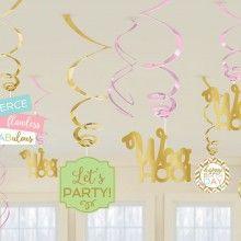 Hangdecoratie confetti fun