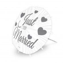 Parapluutjes Just Married