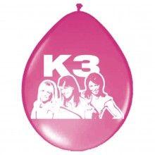 Ballonnen K3 classic, 8 stuks