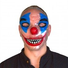 Transparant masker horror clown