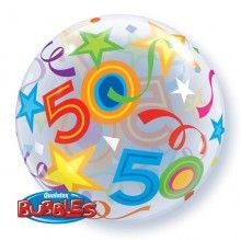 Bubble stretch ballon 50 jaar