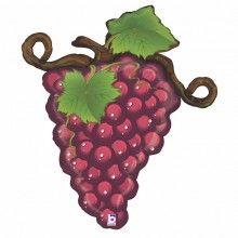 Folieballon rode druiven 79 cm